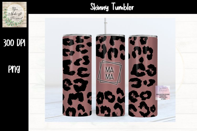 Sublimation Matte Leopard Tumbler Design with MAMA example image 1