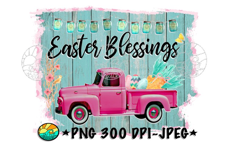 Easter Blessings- PNG for Sublimation example