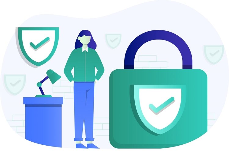 Security Insurance Flat Vector Illustration example image 1