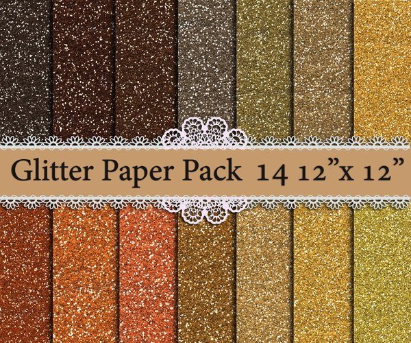 Glitter digital paper example image 1