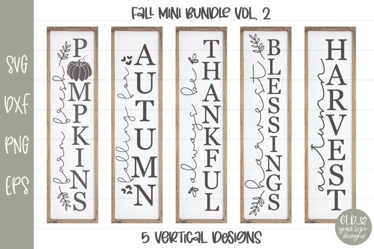 Fall Mini Bundle Vol. 2 - 5 Vertical Fall Designs example image 1