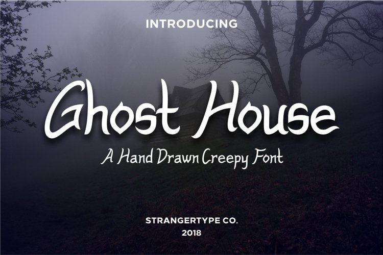 Ghost House - Halloween Font example image 1