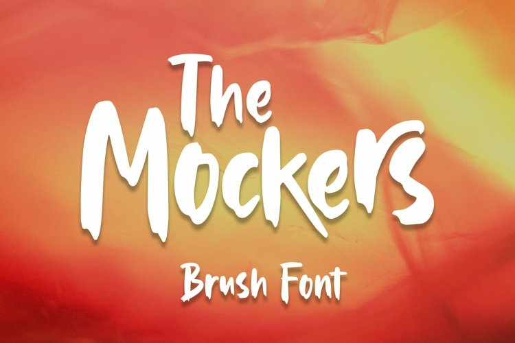 Web Font Mockers - Brush Font example image 1