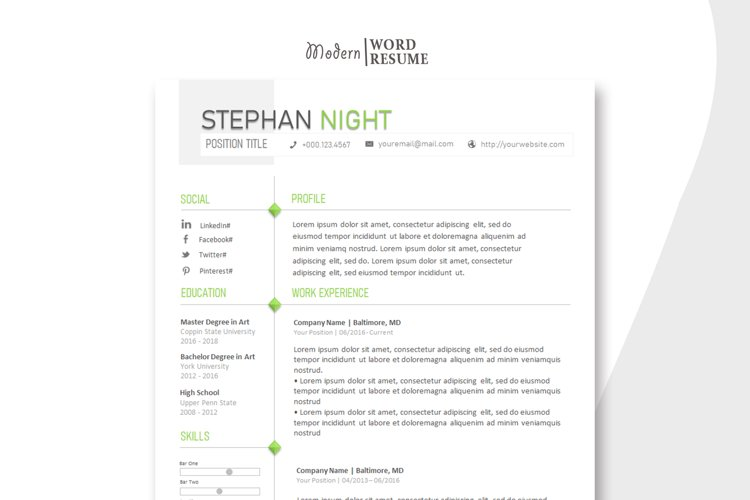2020 Resume Template | Cover Letter | Reference Page example image 1
