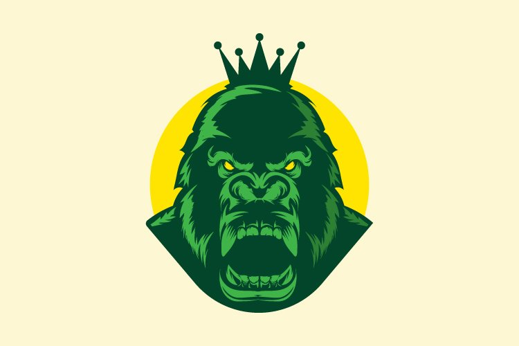 king gorilla abstract template vector - Eps 10 example image 1
