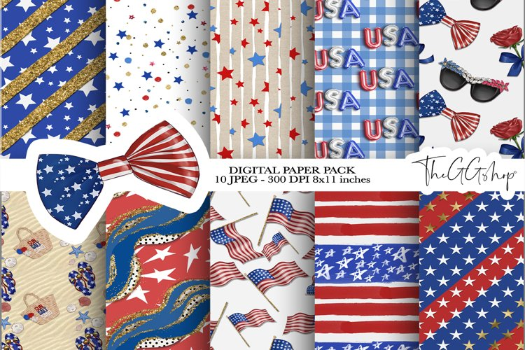 Independence Day Digital paper Pack