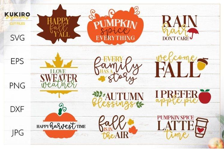 Mini Fall Bundle SVG - Thanksgiving Signs Cut files