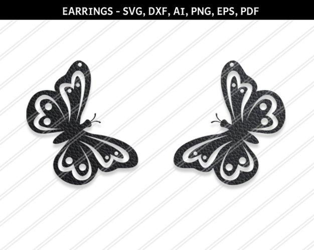 Butterfly earrings svg , Jewelry svg, leather jewelry