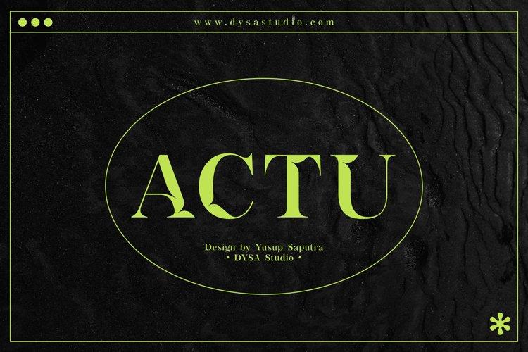 ACTU Typeface example image 1