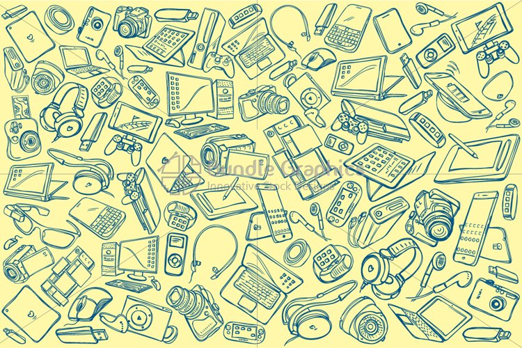 Electronic Gadgets Pattern Design example image 1