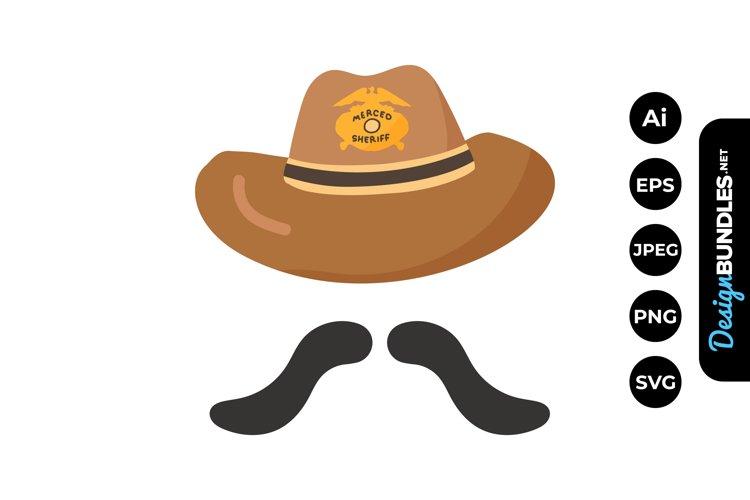 SheriffCowboy Hat Illustrations example image 1