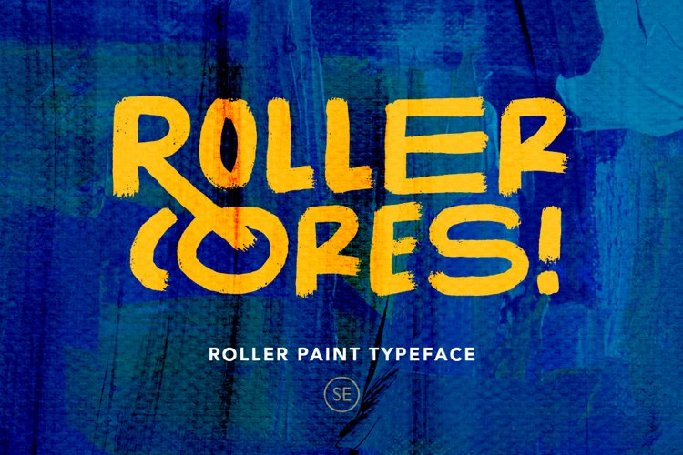 Roller Cores - Roller Paint Typeface example image 1