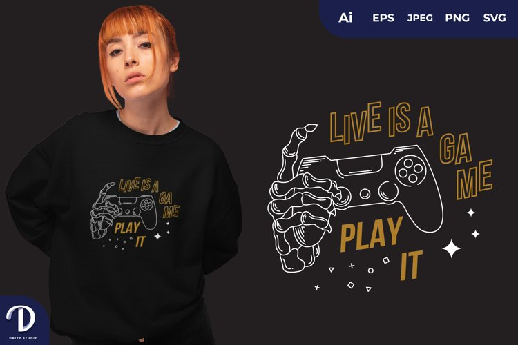 Life is a Game, Play for T-Shirt Design example image 1