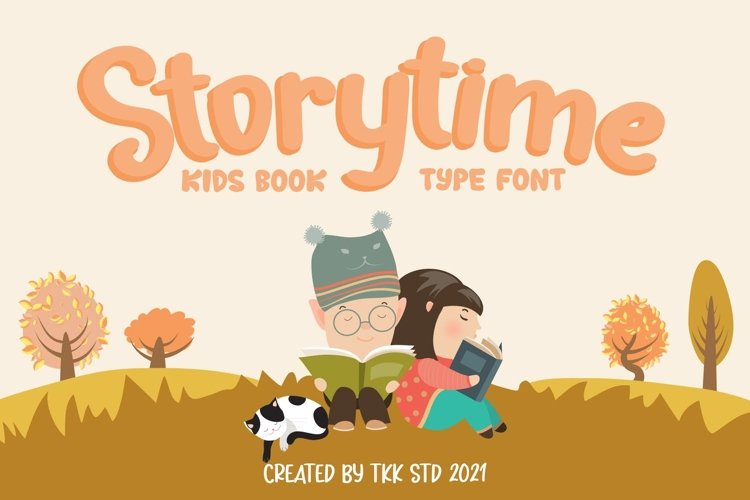 Storytime - Kids Book Font example image 1