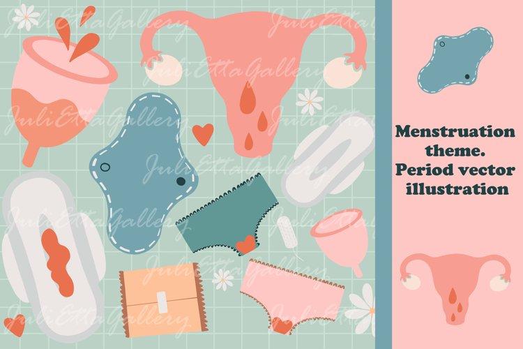 Menstruation theme // Period vector elements