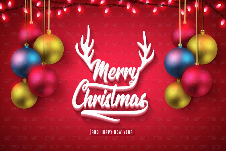 Merry Christmas 3D Typography