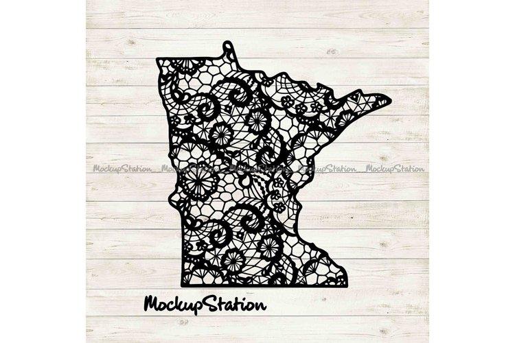 Minnesota Mandala SVG | MN State Floral Lace DXF EPS Design example image 1