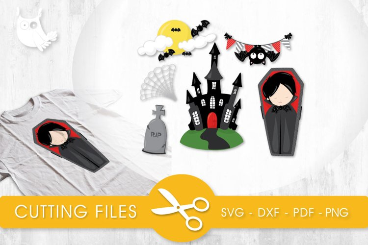 Vampire Haunting cutting files svg, dxf, pdf, eps included - cut files for cricut and silhouette - Cutting Files SG example image 1