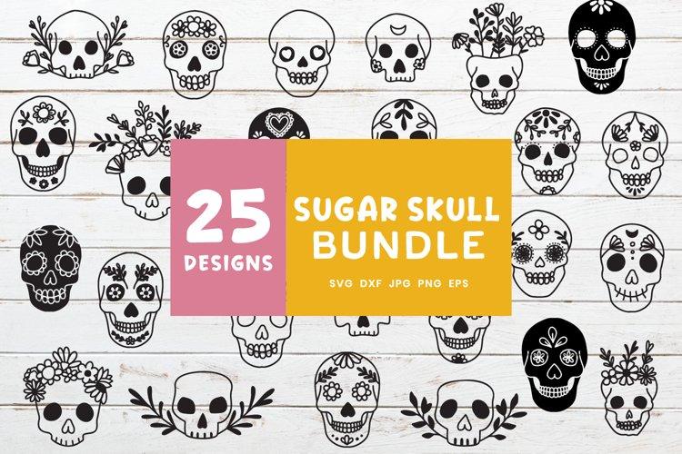 Sugar Skull Svg Bundle   Día de Muertos Clipart Bundle example image 1
