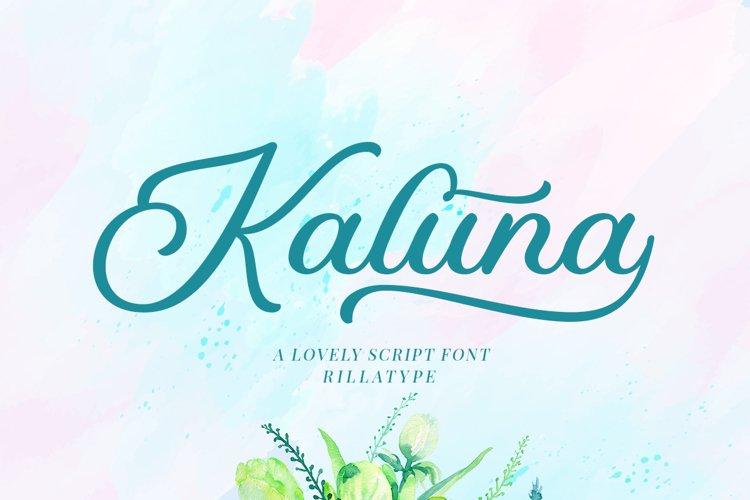 Kaluna Lovely Script example image 1