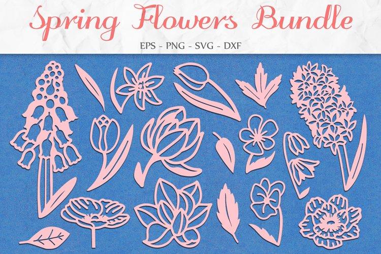 Floral Bundle SVG, Floral Clipart, Flowers SVG, Mothers Day