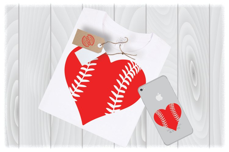 Baseball Heart SVG Files for Cricut Designs | Valentines SVG example image 1