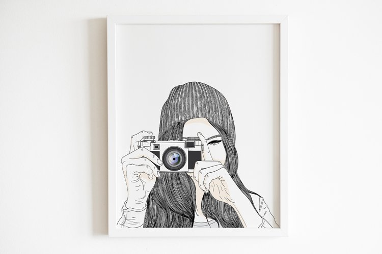 Art Print | Women are taking pictures by digital cameras