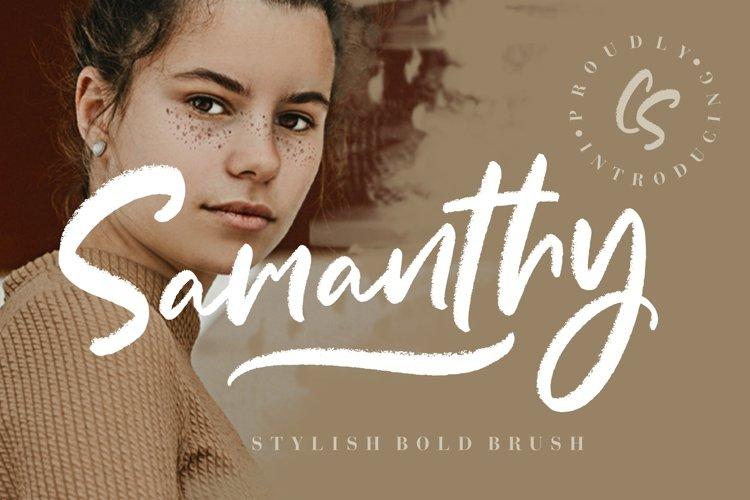 Samanthy Stylish Brush Script example image 1