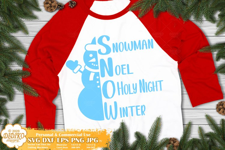 Snowman SVG | Christmas Quotes SVG | Family SVG example image 1