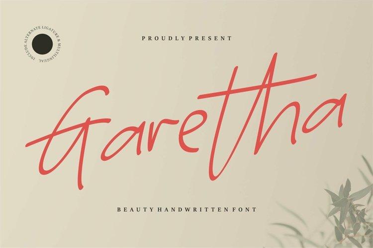 Web Font Garetha - Beauty Handwritten Font example image 1