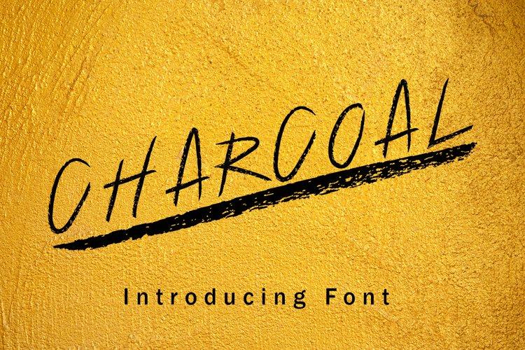 Charcoal Hand Drawn Font