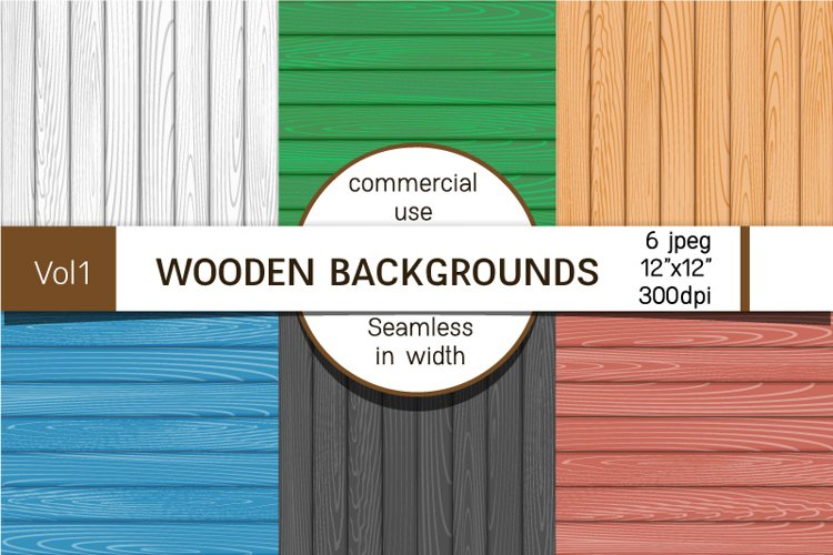 Backgrounds with wooden boards, digital paper