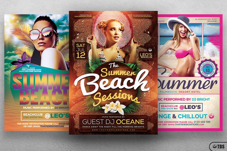 Summer Beach Flyer Bundle example image 1