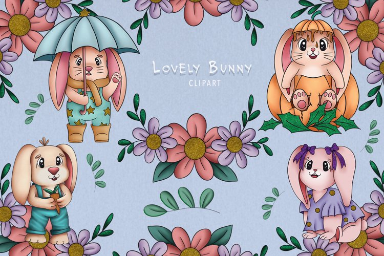 Lovely Bunny Clipart Cute Clipart Baby Animal Collection