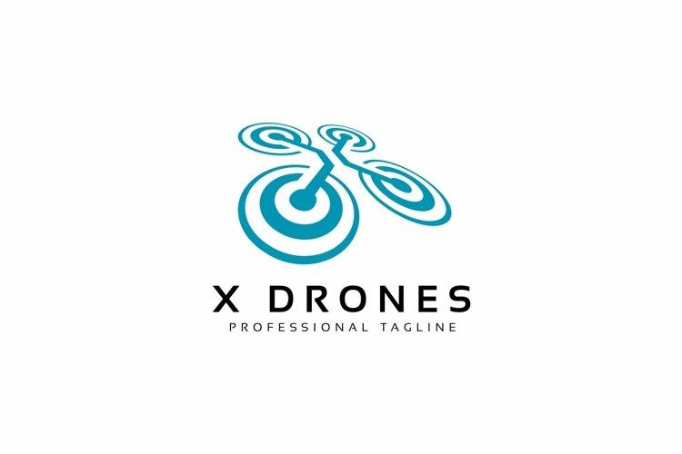 X Drones Logo example image 1