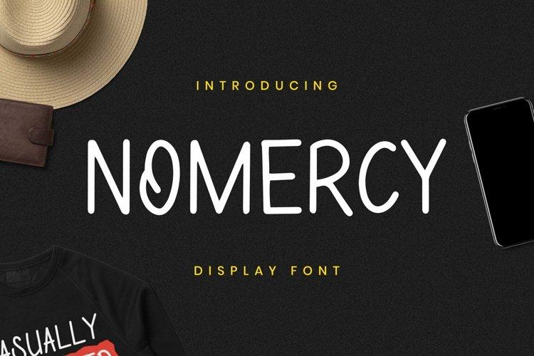 Web Font NoMeRcY Font example image 1