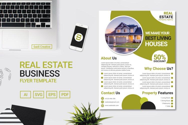 Real Estate Business Flyer Template Design US Flyer Size