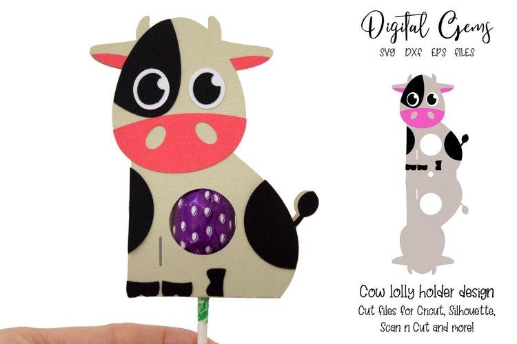Cow Lollipop / Sucker holder design SVG / DXF / EPS