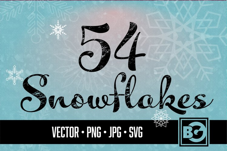 54 Vector Snowflakes example image 1