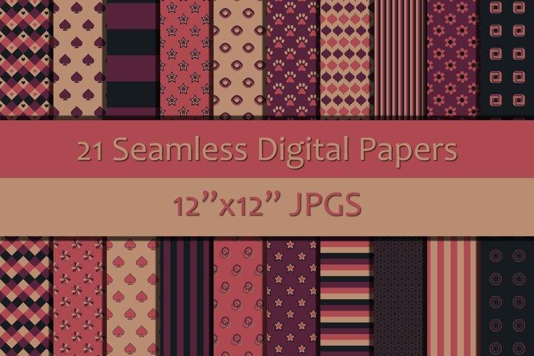 Shades of Pink/Purple/Black Seamless Digital Papers