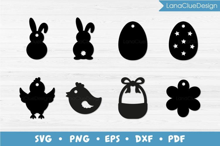 8 Easter Tags SVG example image 1