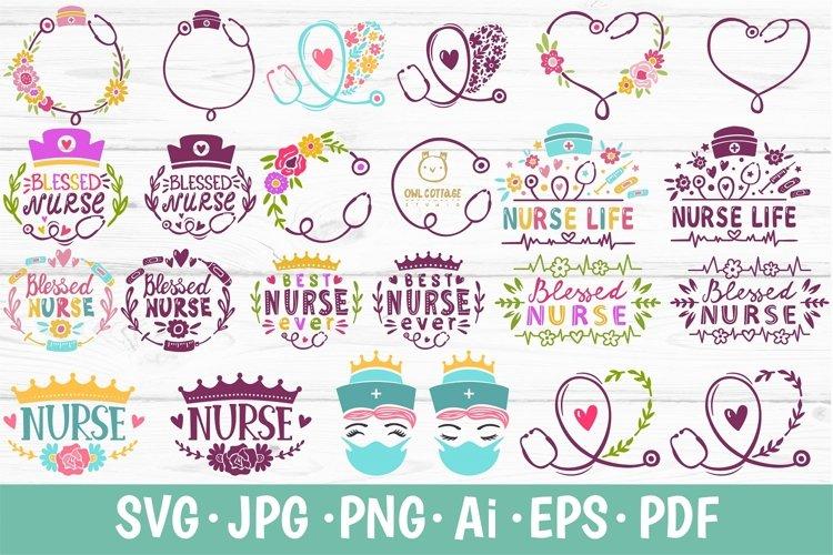 Nurse Bundle SVG, Healthcare workers bundle, Nursing SVG