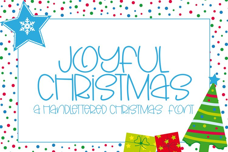Joyful Christmas- A Hand-Lettered Christmas Font example image 1