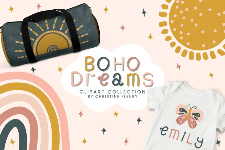 Boho Dreams Clipart Collection