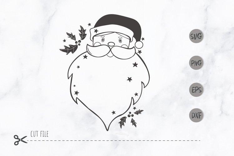 Santa face christmas svg / Santa Head SVG / christmas frame example image 1
