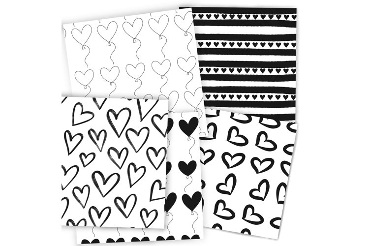 Procreate valentines pattern stamps for iPad and iPad Pro example 1