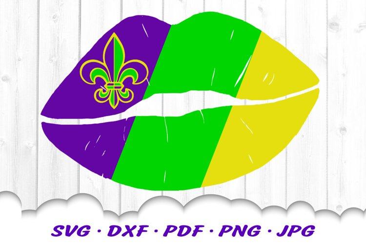 Mardi Gras Fleur De Lis Lips SVG DXF Cut Files