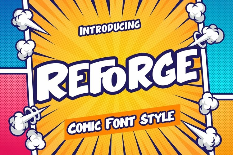Web Font Reforge - Comic Style Font example image 1