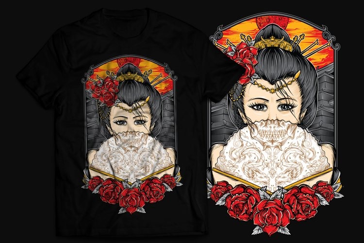 Geisha T-Shirt Design example image 1
