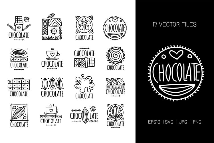 Chocolate, icons collection